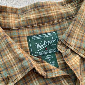 Woolrich Shirts - Vintage WOOLRICH L/S Plaid Casual Shirt L